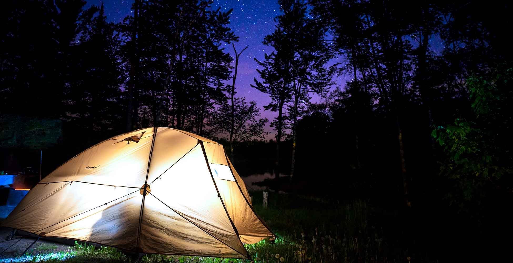 West Michigan camping at night