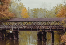 Covered bridge in South Haven
